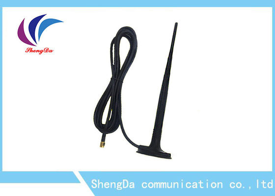 Cina High Gain 10dBi GSM CDMA Antenna Black Rat Tail Penampilan RG174 3M Cable pabrik