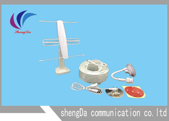 Cina 3 Elemen Mini VHF UHF Yagi Antenna, TV Long Range Yagi Wifi Antena 2 In 1 pabrik